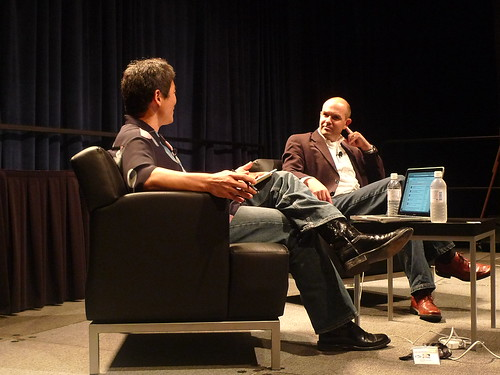 Chris Anderson from Wired being interviewed by Guy Kawasaki