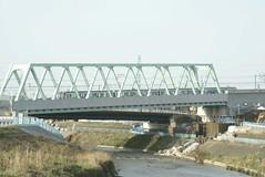 鶴見川を渡るグリーンラインその2