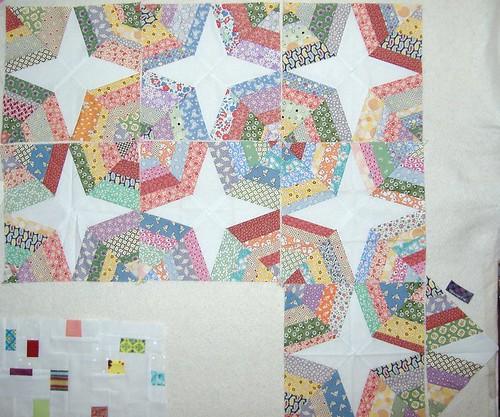 PTQB Spiderweb 1930's repro quilt