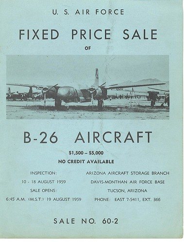 Warbird picture - Douglas B-26 bombers for sale