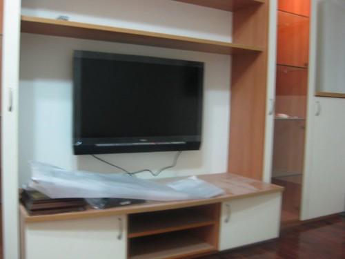 新裝的電視