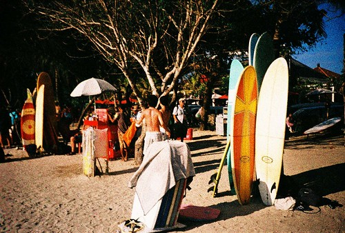surfing in kuta beach bali indonesia