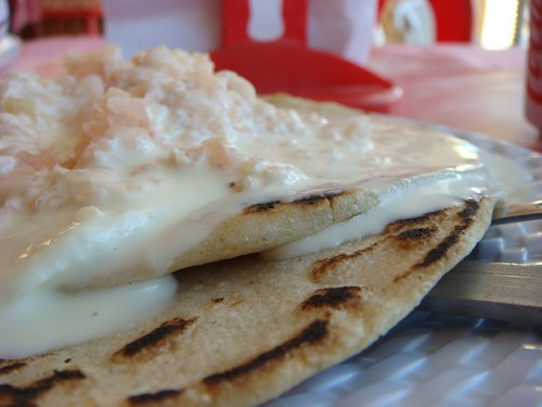 Quesillos - a delicious cream-cheese and onion on tortillas delicacy...