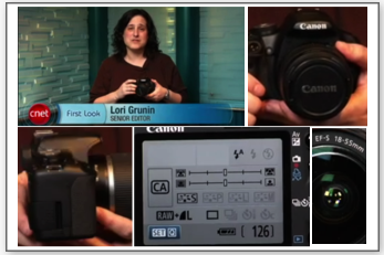 Canon T1i / 500D First Look by Lori Grunin, Senior Editor at CNet TV