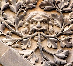 Pembroke Street Green Man (tina negus) Tags: cambridge sculpture carving greenman pembrokestreet