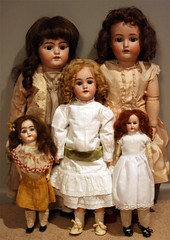 Antique Dolls (Cat Gabriel Art) Tags: simon french marseille dolls antique bisque german 370 armand 119 reinhardt lps kammer 1079 handwerck halbig