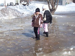 Playing in the water (legallyglinda) Tags: flood 2009 westfargo sheyenneriver