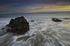 (maxxsmart) Tags: ocean sunset sea seascape motion cold beach water clouds landscape sand rocks wave marincounty numb seasick circularpolarizer pointreyesnationalseashore ndgrad singhray canon5dmarkii kehoeneach