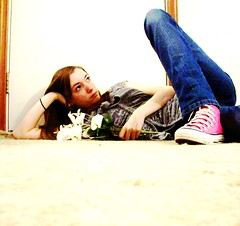 024 (BREananicOLE) Tags: flowers love shoes converse chucks chucktaylors strictlypinkconverse shoesandflowers
