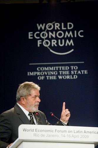 World Economic Forum 拍攝的 President of Brazil Luiz Inacio Lula da Silva - World Economic Forum on Latin America 2009。