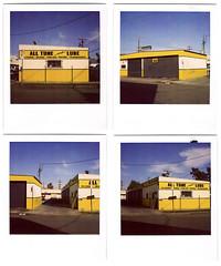 polaroid quadtych. venice, ca. 2009. (eyetwist) Tags: california venice urban film yellow analog square polaroid sx70 la losangeles los angeles quad ishootfilm motors socal repair 600 instant brakes modified venicebeach analogue pola polaroid600 modded nofilter quadtych transmissions timezero 90291 landcamera oilchange 4up lincolnblvd daylab instantfilm angeleno polaroid779 779 iso640 eyetwist sx70landcamera nond tuneups ishootpolaroid enicebeach sx70lives sx70uses600or779 eyetwistkevinballuff alltuneandlube wstla