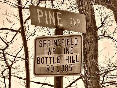 sepia springfield sign