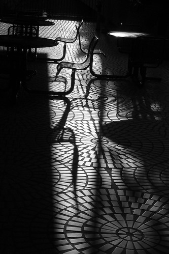 Chairs and Shadows BW