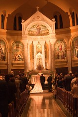 Buckman 0708 (harmonweddings.com) Tags: wedding church saint groom bride catholic veil dress bridesmaid rosary louisville groomsmen rd newburg agness