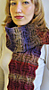 Ameeta scarf, free knitting pattern, neck warmer, wrap, deniss ayselle, textured scarf