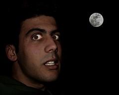moon & man (baltasar lopez) Tags: moon man black night dark bodylanguage terror ltytr1 baltasarlopez