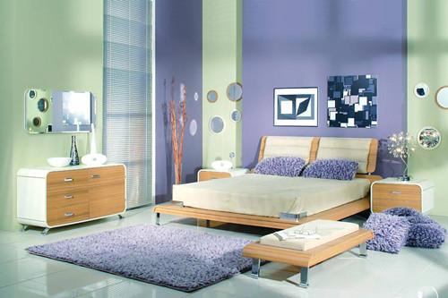 Purple-bedroom-interior-design-comfortable-impression
