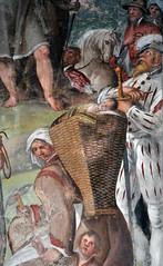 Self-portrait of the Fiamminghino. Frescoes in the church of SS. Eusebio and Vittore in Peglio, over Gravedona, Como (renzodionigi) Tags: como painting murals inferno affreschi religiousart frescoes purgatorio sacredart gravedona giudiziouniversale peglio fiammenghino