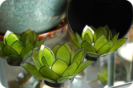 lotus tealights from Ten Thousand Villages