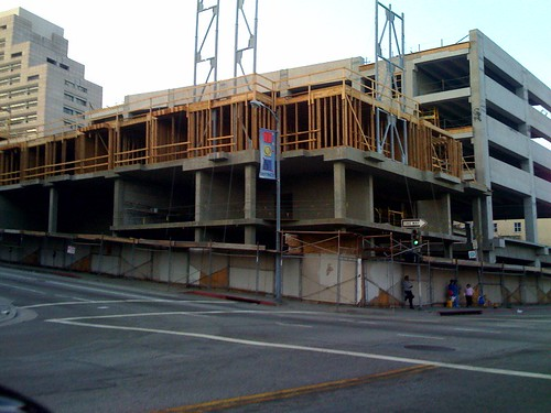 skid row - new construction above homeless
