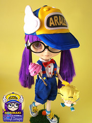 Blythe_Custom_Arale_Session01_06 (Sheryl Designs) Tags: doll dr blythe custom norimaki arale slump