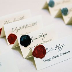 Wedding Designs: Wax-Seal Wedding Invitation Escort Cards