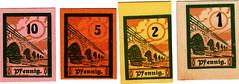 Salzburghofen, 1, 2 5,10 pf, 1919 (Iliazd) Tags: germany firstworldwar notgeld papermoney germaninflationarycurrency emergencymoney 19171923 germanpapermoney