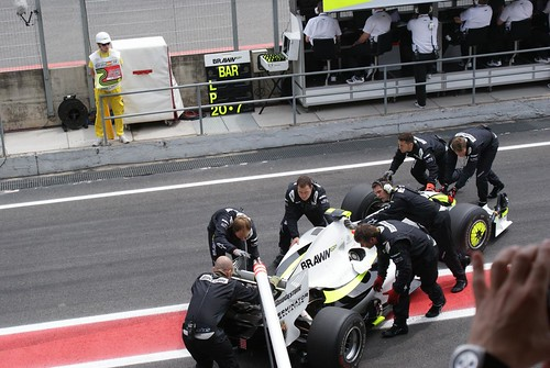 GP España 2009: Boxes de Brawn GP