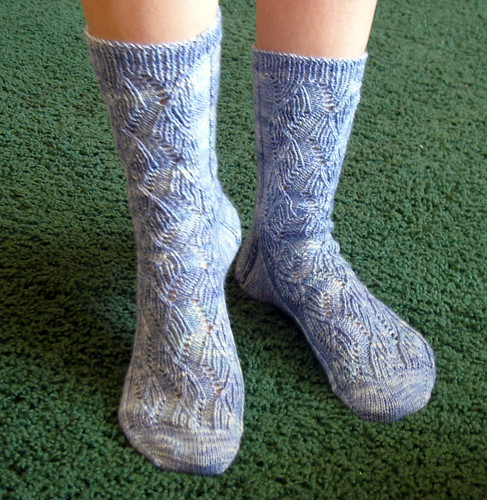 Ribbed Ribbon Socks