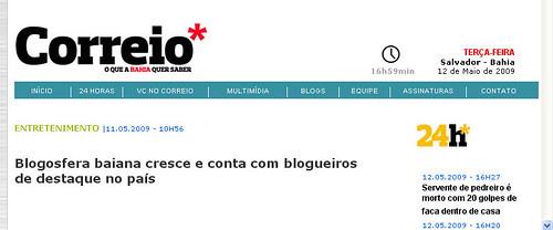Blogcitário no Correio*