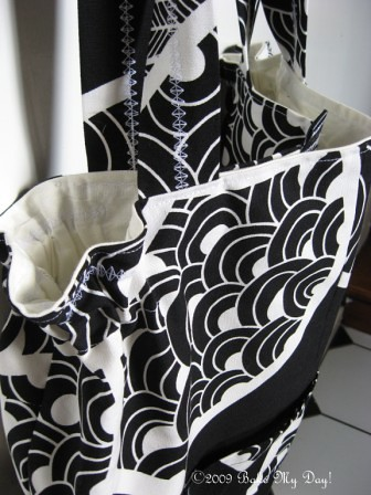 Black & white bag top