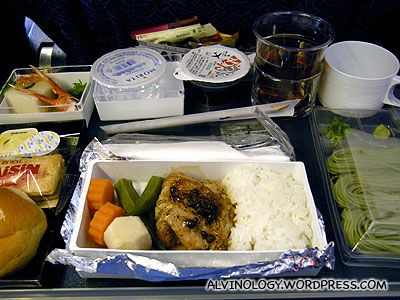 Our airplane meal