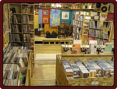 FOX MUSIC - Watertown Wisconsin - vinyl records albums lp - stage area - indie record store