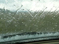 Hail Storm - Made it to the truck just in time... almost