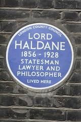 Photo of Richard Burdon Haldane blue plaque