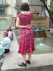 Summer dress (CrazyVet) Tags: design knitting lace crafts summerdress fo summerdressnearafountain