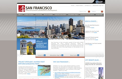 Online marketing for San Francisco's OEWD: homepage refresh launched