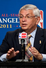 David Stern announcing NBA All-Star game in Los Angeles