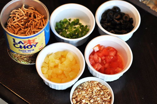 Hawaiian Haystacks- Ingredients