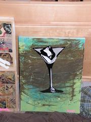 Martini Just Ice (rash) Tags: art glass stencil paint martini brash