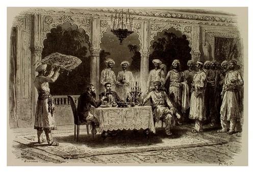 009-Europeos vistitando al Rajah de Maihi-La India en palabras e imágenes 1880-1881- © Universitätsbibliothek Heidelbergr