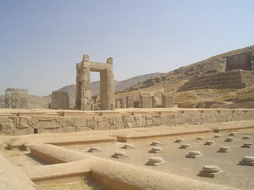 As ruínas de Persépolis no Irão