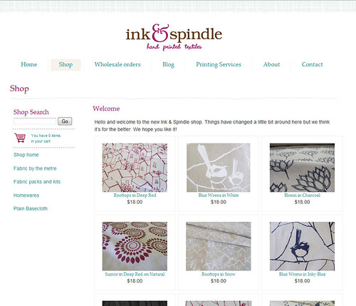 new shop for Ink & Spindle