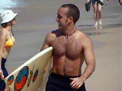 Bondi_081 (RHColo_General) Tags: ocean man men guy beach bondi surf 2000 muscle surfer bare chest sydney australia nsw olympics bondibeach