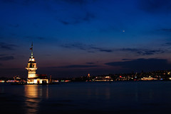 Maiden's Tower / Kz Kulesi (Volkan Donbalolu) Tags: city travel blue sky tower tourism nature beautiful architecture night clouds turkey landscape photography photo nikon perfect photographer tour trkiye great picture photographers istanbul trkei af d200 nikkor parlement maiden turkish mimari volkan manzara gezi turchia kiz kulesi doa nikond200 donbaloglu donbalolu volkandonbalolu volkandonbaloglu nikonnikkoraf2485mmf284dif