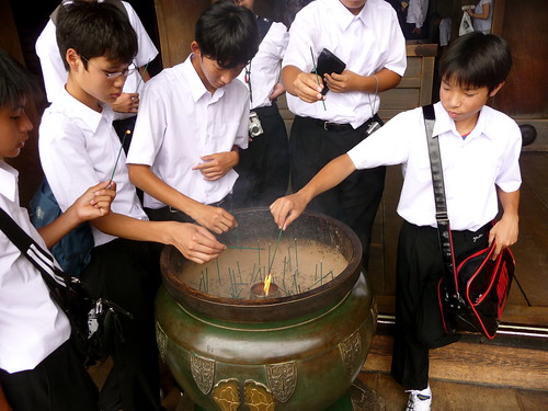Schoolboys Lighting Incense