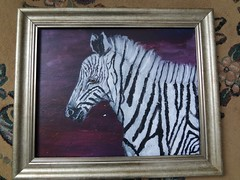 Zebra painting not finished yet (Annafur) Tags: zebra zebraart zebrapainting
