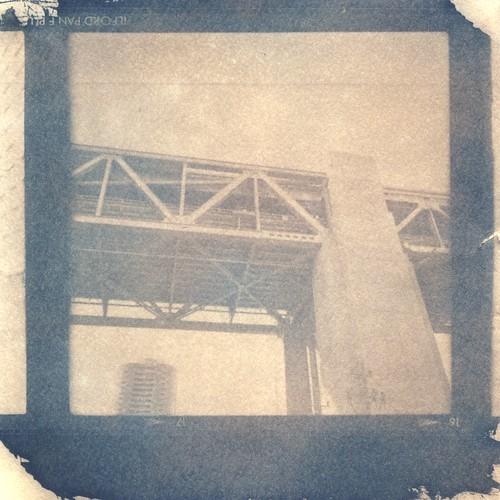 Bay Bridge Girders Cyanotype