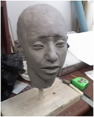 """Step 13 - Making Face Casts for """"Marie"""" (Houston Ballet) Tags: ballet marie dance theater arts culture houston cast tomboyd production marieantoinette props beheading guillotine brianwalker houstonballet jessicacollado stantonwelch kellymyernick"""