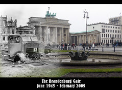 The Brandenburg Gate (Patrick Ciebilski) Tags: berlin collage germany europe wwii brandenburggate overlay brandenburgertor 1945 quadriga 2009 worldwar2 pariserplatz